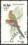 Sellos de Asia - Omán -  Pennants parakeet