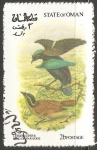 Stamps Oman -  Aves exoticas