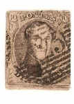 Stamps Europe - Belgium -  Leopoldo I - Ving cent - 1851