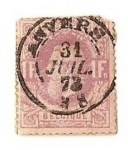 Stamps Europe - Belgium -  Leopoldo II - 1869-78