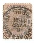 Stamps Europe - Belgium -  Leopoldo II - 1885