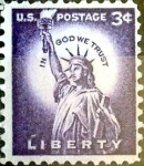 Stamps United States -  Intercambio 0,20 usd  3 cent. 1954