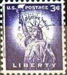 Sellos de America - Estados Unidos -  Intercambio 0,20 usd  3 cent. 1954