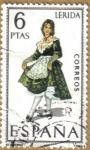 Stamps Spain -  LERIDA - Trajes tipicos españoles