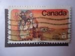 Sellos de America - Canadá -  Colonos -Mennonite Settlers - Mennonites in Manitoba (Scott/Ca:643 - Yvert/543 - Mi/569)