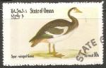 Sellos de Asia - Omán -  Spur winged goose-Ganso Estímulo-con alas