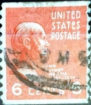 Stamps United States -  Intercambio 0,20 usd 6 cent. 1938