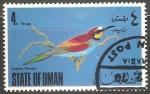 Stamps Oman -  European bee eater-Abejaruco europeo