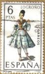 Stamps Spain -  LOGROÑO - Trajes tipicos españoles