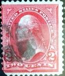 Sellos de America - Estados Unidos -  Intercambio 11,00 usd 2 cent. 1894