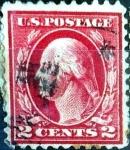 Sellos de America - Estados Unidos -  Intercambio 0,40 usd 2 cent. 1916