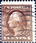 Stamps United States -  Intercambio 1,50 usd 4 cent. 1908