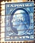 Sellos de America - Estados Unidos -  Intercambio 0,75 usd 5 cent. 1911