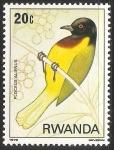 Sellos del Mundo : Africa : Rwanda : Ploceus alienus-Extraño tejedora