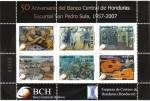 Stamps : America : Honduras :  50 Aniversario del Banco Central de Honduras  Sucursal San Pedro Sula, 1957-2007