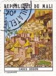 Stamps Mali -  casas Dogon