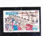 Stamps Nigeria -  oficina moderna de correos