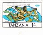 Stamps Tanzania -  40 aniv. aviación civil- ICARUS-