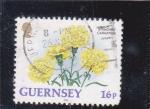 Sellos de Europa - Reino Unido -  flores -GUERNSEY