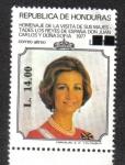 Sellos del Mundo : America : Honduras :  Homenaje de la visita de sus Magestades los Reyes de España Don Juan Carlos y Doña Sofía 1997
