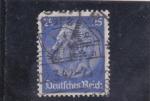Sellos de Europa - Alemania -  mariscal Hindemburg