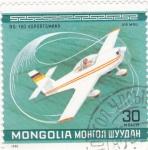 Sellos de Asia - Mongolia -  avioneta