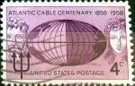 Stamps United States -  Intercambio 0,20 usd 4 cent. 1958