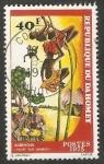 Stamps : Africa : Benin :  Danza con cañas de bambú, Agbehoun