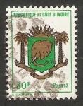 Sellos de Africa - Costa de Marfil -  Escudo de Costa de Marfil