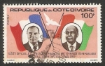 Stamps Ivory Coast -  Visita del Presidente Francois Mitterrand