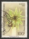 Sellos de Africa - Costa de Marfil -  Flor de ananas