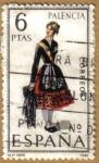Sellos de Europa - España -  PALENCIA - Trajes tipicos españoles