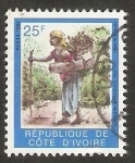 Stamps : Africa : Ivory_Coast :  Mujer