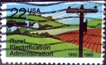 Stamps United States -  Intercambio 0,20 usd 22 cent. 1985
