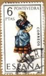 Sellos de Europa - España -  PONTEVEDRA - Trajes tipicos españoles