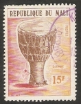 Stamps : Africa : Mali :  Djembe, Instrumento musical