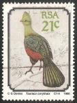 Stamps South Africa -  Tauraco corythaix-