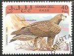 Stamps Saudi Arabia -  Aquila chrysaetos-águila real