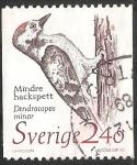 Sellos del Mundo : Europa : Suecia : Dendrocopos minor-Pajaro carpintero