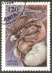 Sellos del Mundo : Africa : Tanzania : Vultur gryphus-cóndor andino