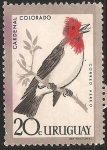 Stamps : America : Uruguay :  Cardenal