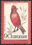 Stamps Uruguay -  Churinche-mosquero sangretoro