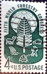 Stamps United States -  Intercambio 0,20 usd 4 cent. 1960