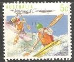 Stamps Australia -  Kayaking canoeing-