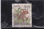 Sellos de Oceania - Nueva Zelanda -  flores-titoki