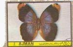 Stamps United Arab Emirates -  mariposa