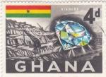 Stamps Ghana -  minas de diamantes