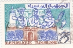 Stamps Tunisia -  mercado tunecino