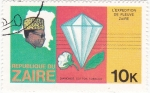 Sellos de Africa - República Democrática del Congo -  Mobuto Sese Seco-diamante,algodón y tabaco