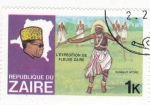 Sellos de Africa - República Democrática del Congo -  Mobuto Sese Seco- danza ntore